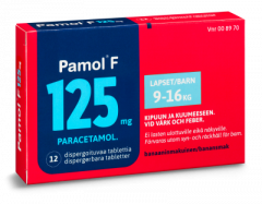 PAMOL F 125 mg disperg tabl 12 fol