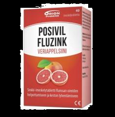 POSIVIL FLUZINK VERIAPPELSIINI IMESKELYTABLETTI 40 TABL